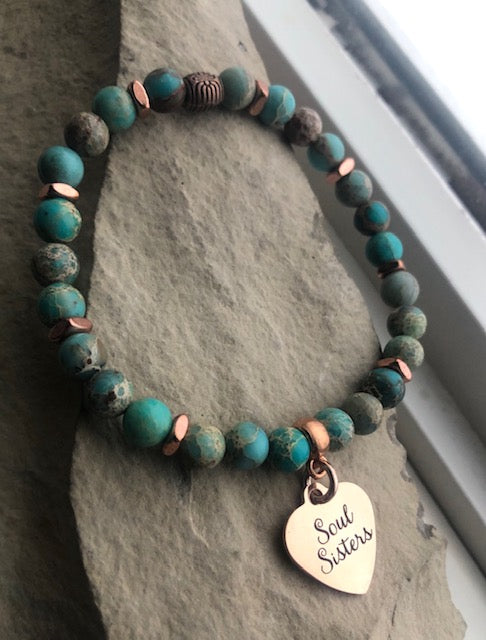 Rose Gold Soul Sisters-Sea Sediment Jasper-Stacking Set
