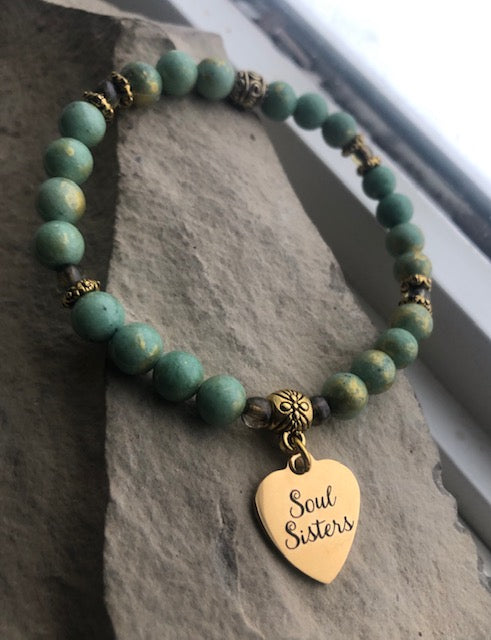 Gold Soul Sisters-Golden Foil Jade-Stacking Bracelet Set
