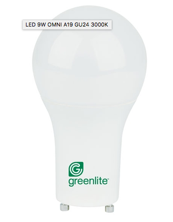 Greenlite 9W LED Bulb GU24 Dimmable