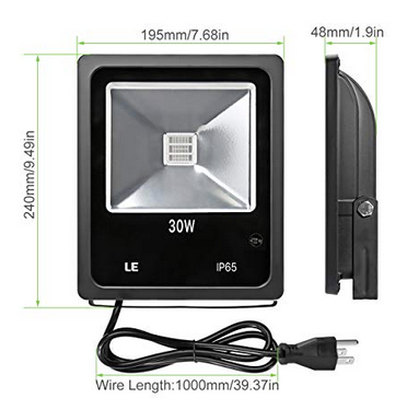 RGB 30w LED flood light
