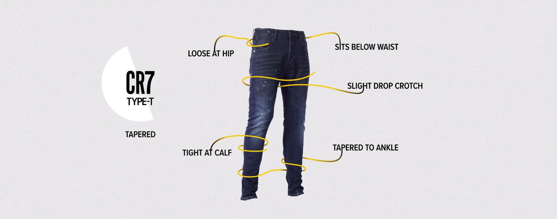 TYPE-T TAPERED JEAN - INDIGO fit