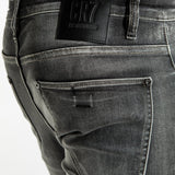 CR7 Denim Type-C Slim Straight - Stone Grey - back pocket closeup