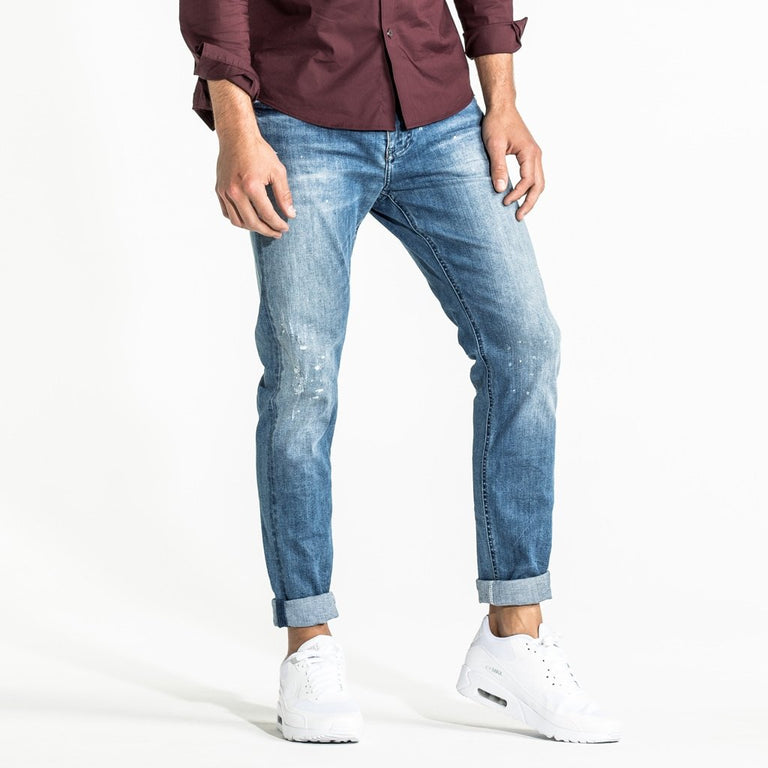 CR7 Denim Type-S Super Skinny - Coastal Blue - front view