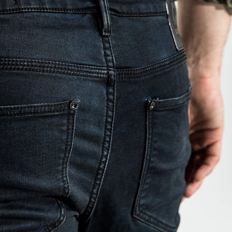 CR7 Denim Waxed Jet Coated Short - back view
