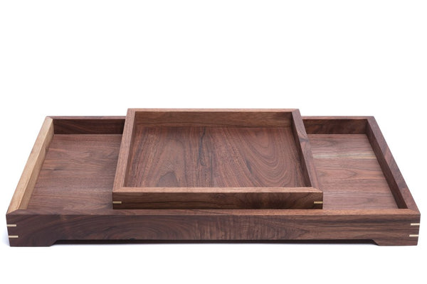 walnut bed trays
