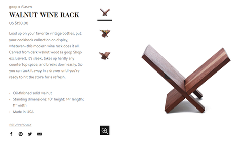 walnut wine rack *GOOP EXCLUSIVE*