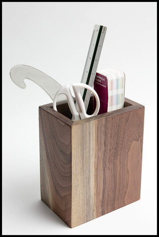 Walnut Utensil Holder | Alabama Sawyer
