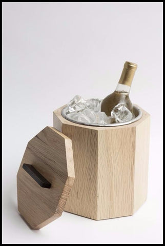 White Oak Ice Bucket