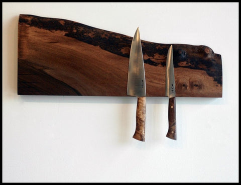 Live Edge Walnut Knife Holder | Alabama Sawyer