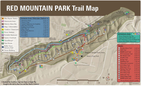 Red Mountain Park Trail Map