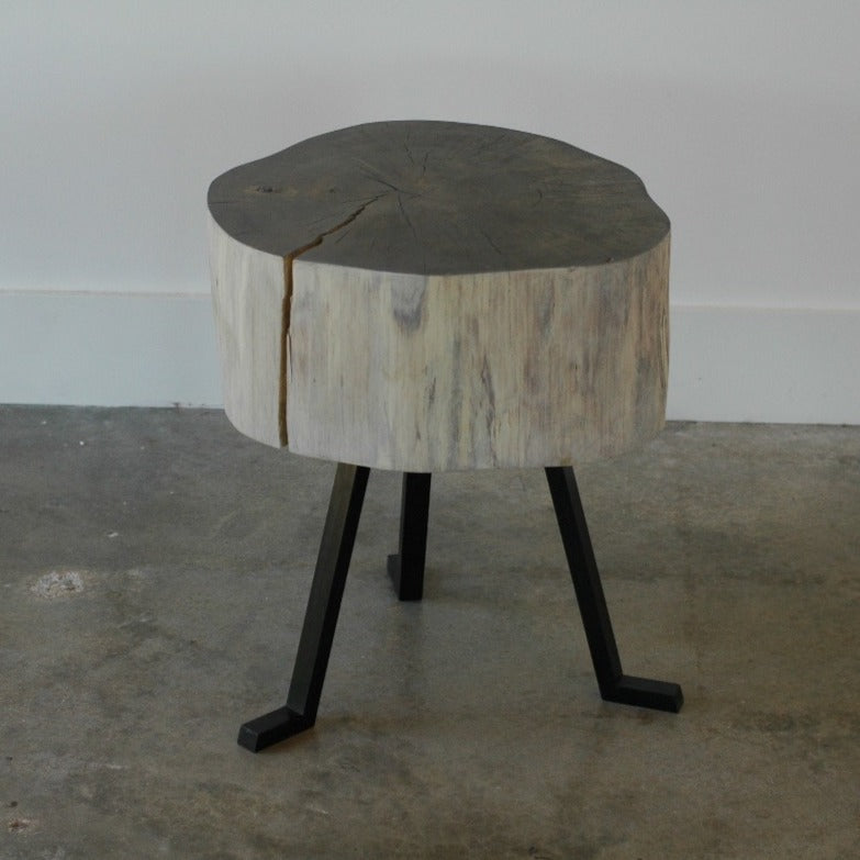 live edge side table Gray Sputnik Tables 1