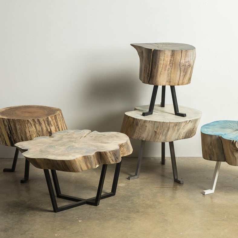 live edge side table Sputnik Tables