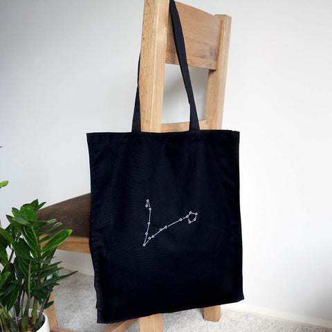 Star sign constellation tote bag