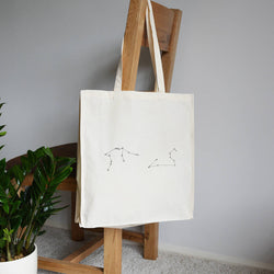 2 star constellations tote bag