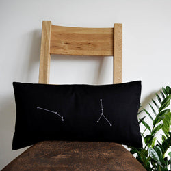 2 star constellations cushion cover
