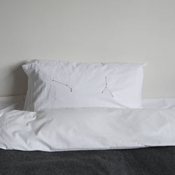 2 star constellations pillowcase