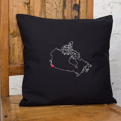 Personalised map cushion cover - one country
