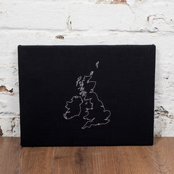 1 country custom map notice board
