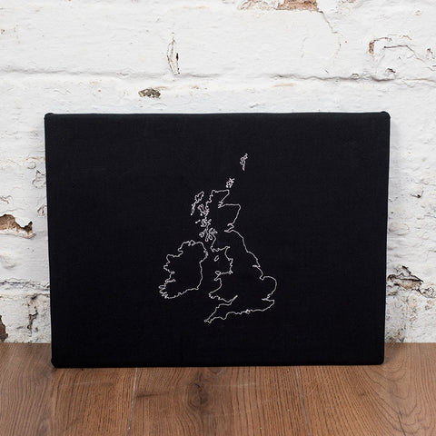 Personalised map notice board - one country