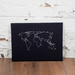 World map notice board