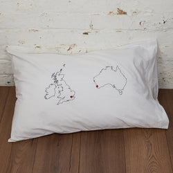 2 country custom map pillowcase