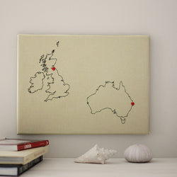 2 country custom map notice board