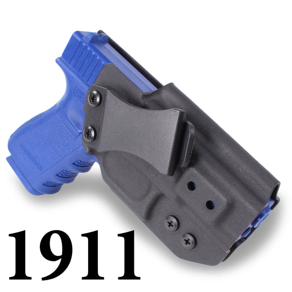 1911 - IWB KYDEX Gun Holster - Concealed Carry Tuckable Multiple Adjustable Belt Clips - 100% US Made - Inside Waistband