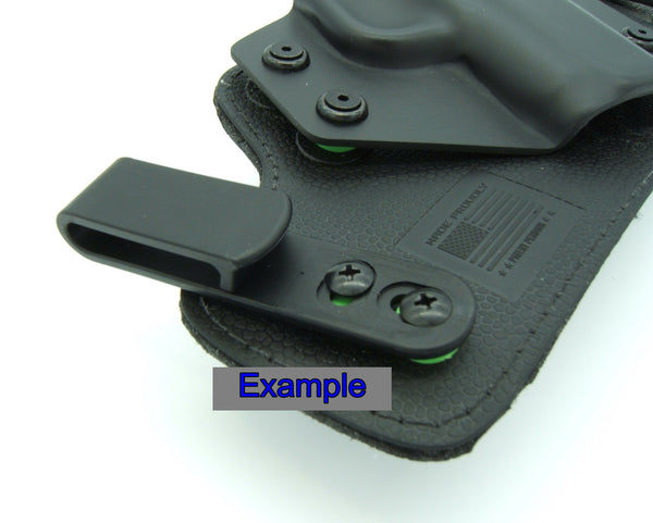 Tough Holster Clips, Adjustable Cant for IWB OWB Kydex, Leather, Hybrid Holster Making. Tuckable Black Plastic