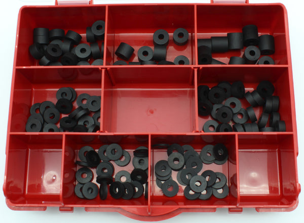 120 Pcs Premium Black EPDM Rubber Washers/Spacers Assortment Kit for Kydex Gun Holsters + Knife Sheaths Made in USA 120pc
