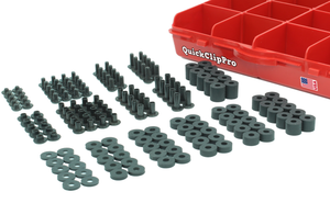 170+ Pcs Black Chicago Screw & Post Assortment Kit + Spacers/Washers for Kydex Gun Holsters + Knife Sheaths