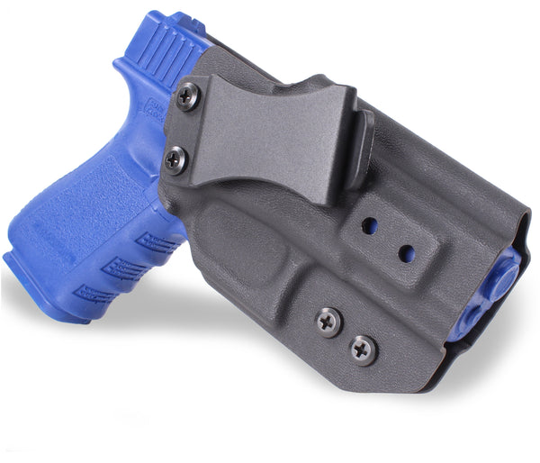 GLOCK - IWB KYDEX Gun Holster - Concealed Carry Tuckable Multiple Adjustable Belt Clips - 100% US Made - Inside Waistband