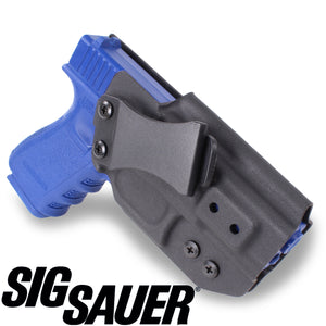 SIG SAUER - IWB KYDEX Gun Holster - Concealed Carry Tuckable Multiple Adjustable Belt Clips - 100% US Made - Inside Waistband
