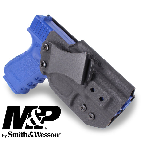 SMITH & WESSON - IWB KYDEX Gun Holster - Concealed Carry Tuckable Multiple Adjustable Belt Clips - 100% US Made - Inside Waistband
