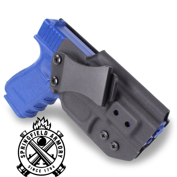 SPRINGFIELD ARMORY - IWB KYDEX Gun Holster - Concealed Carry Tuckable Multiple Adjustable Belt Clips - 100% US Made - Inside Waistband