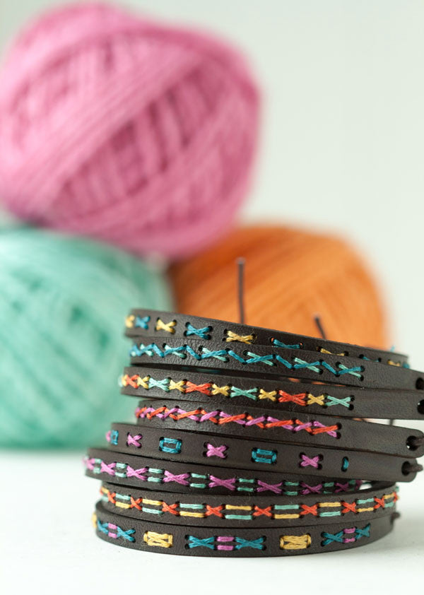 New stitched leather cuff kits now in the shop!