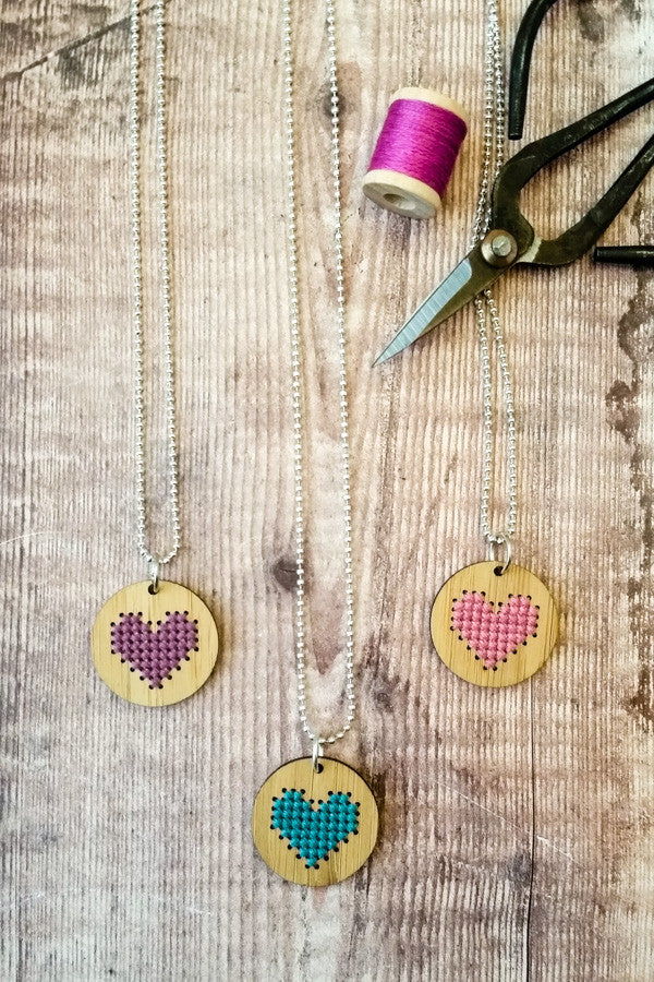 The best Red Gate Stitchery cross stitch kits for Valentine's Day