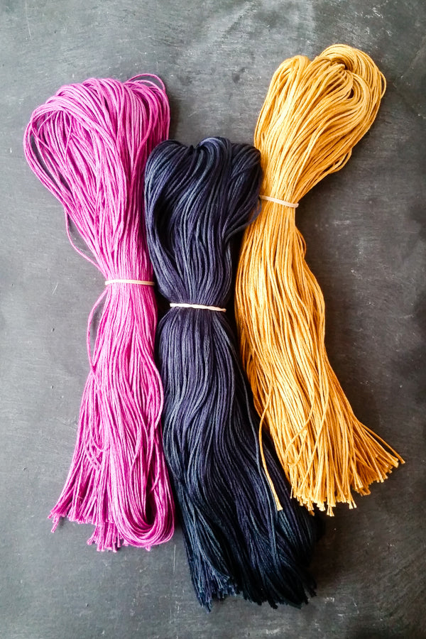 Hand dyed thread by Weeks Dye Works