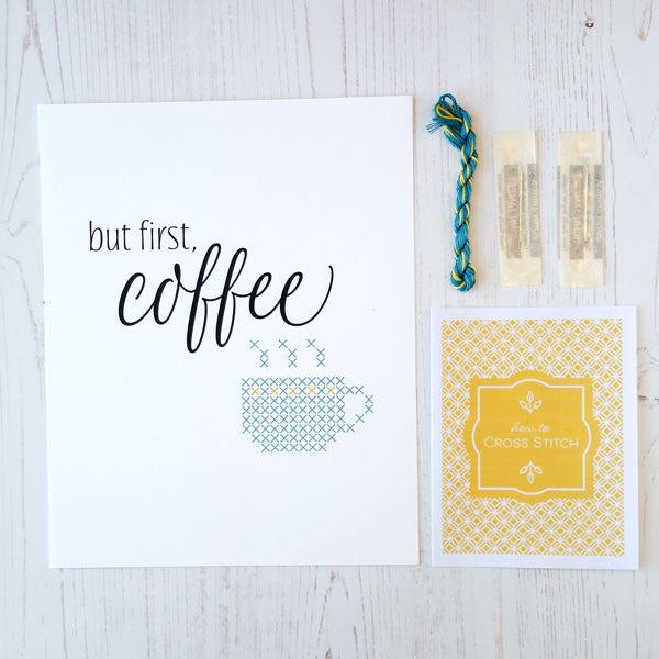 But first coffee cross stitch