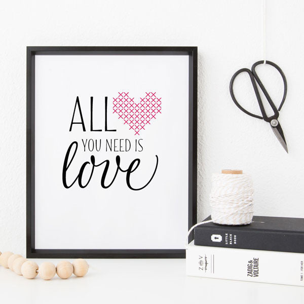 All You Need Is Love cross stitch paper