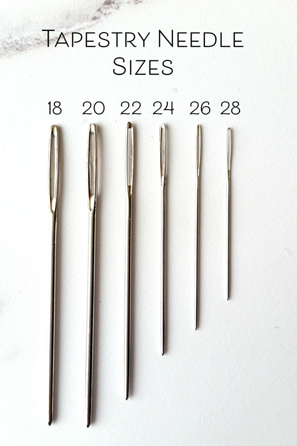 What Size Needle To Use For Cross Stitch Stitched Modern