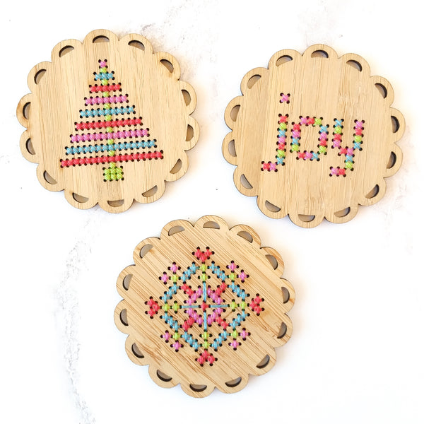 Holiday Ornament Kit - Set of 3