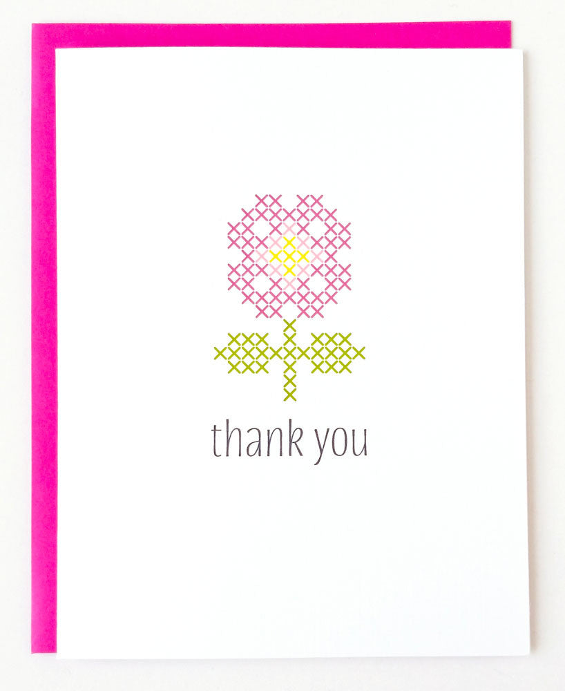 Stitchable Greeting Card - Thank You