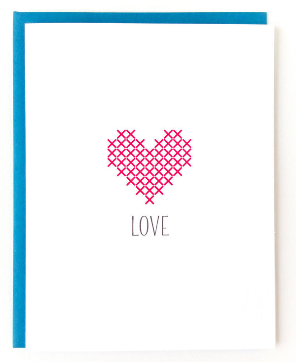 Stitchable Greeting Card - Love