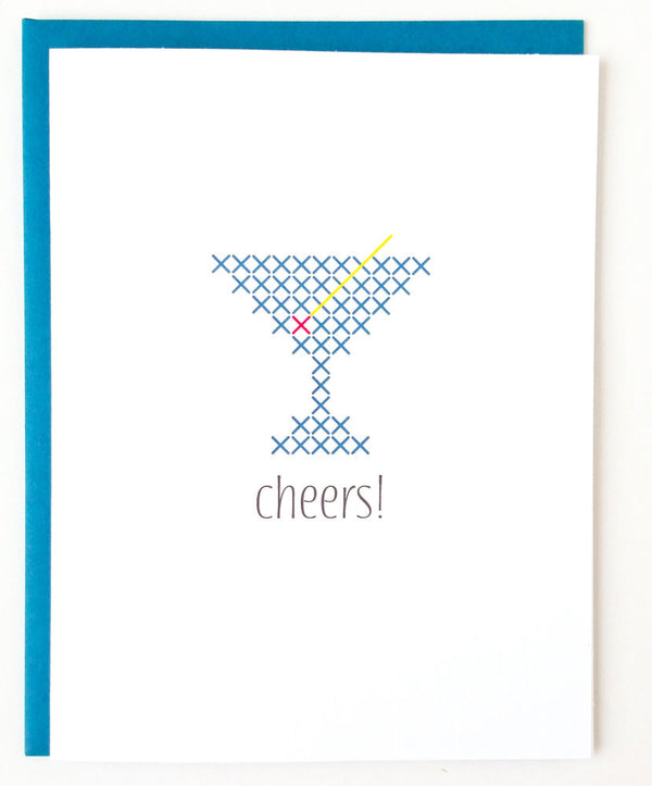 Stitchable Greeting Card - Cheers