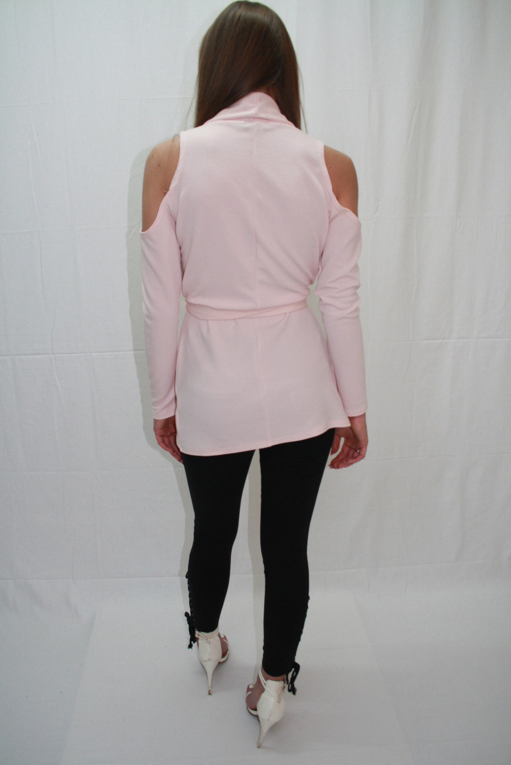 'AMBER' PINK, COLD SHOULDER, TOP