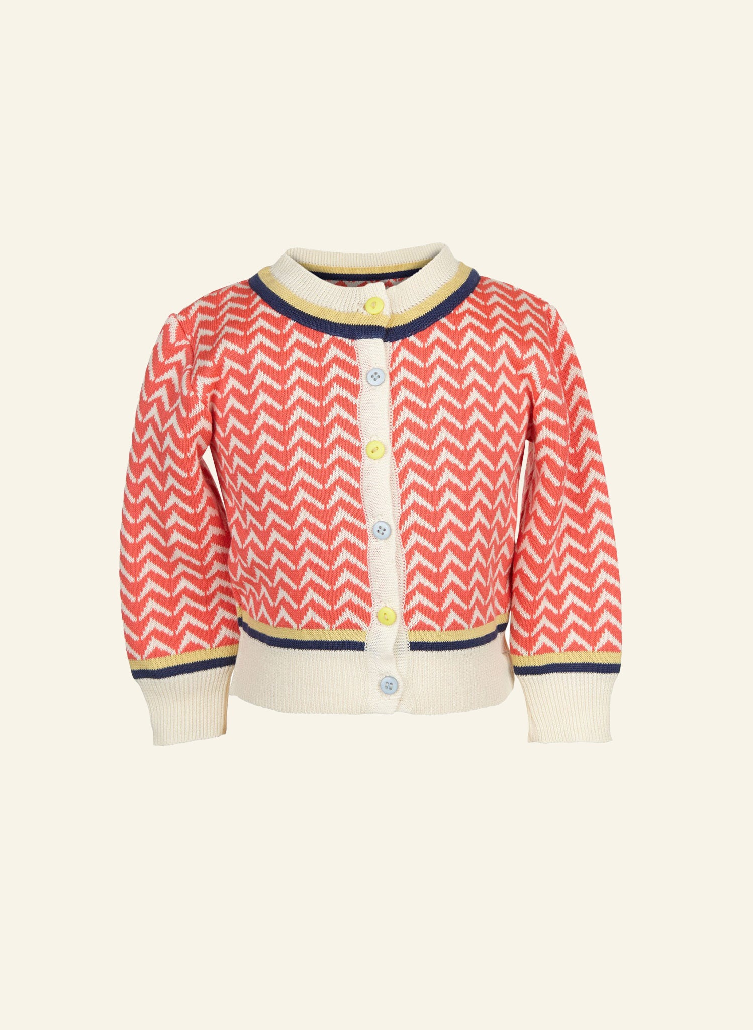 Children's Cardigan - Coral Arrows