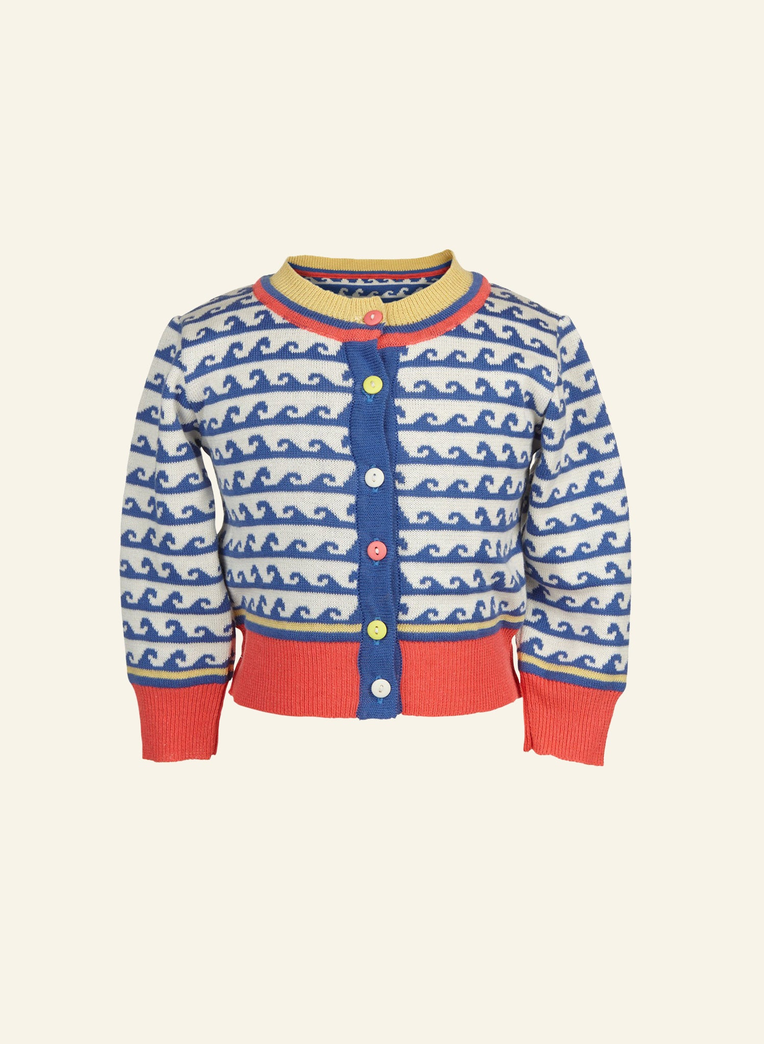 Children's Cardigan - Blue Waves
