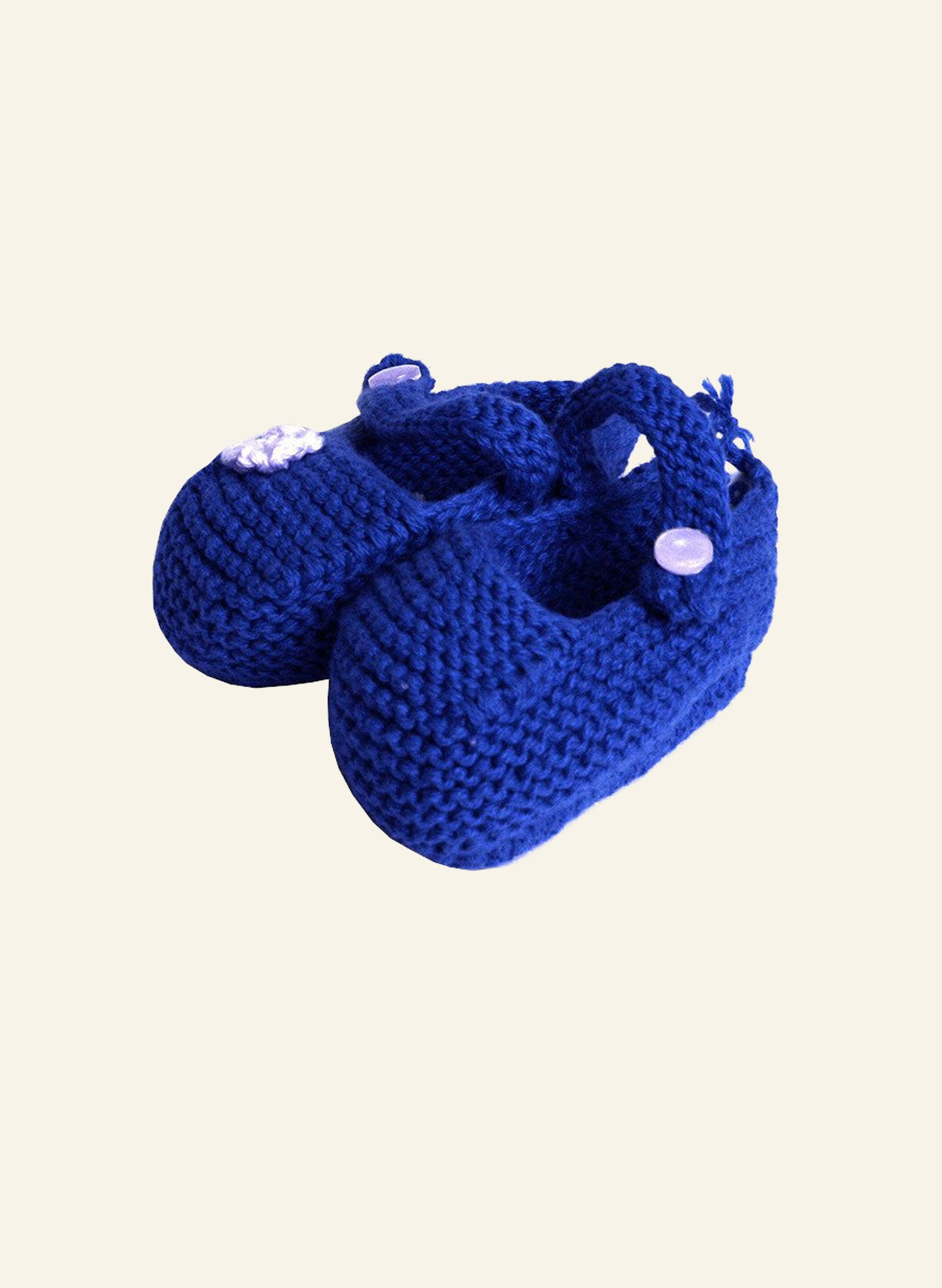 Knitted Baby Booties - Navy
