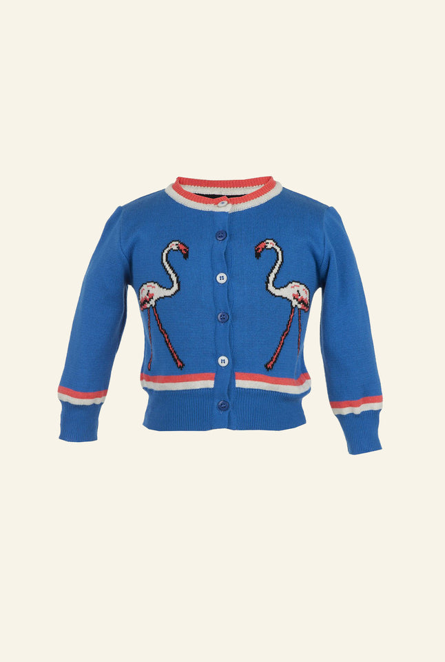 Children's Cardigan - Flamingo