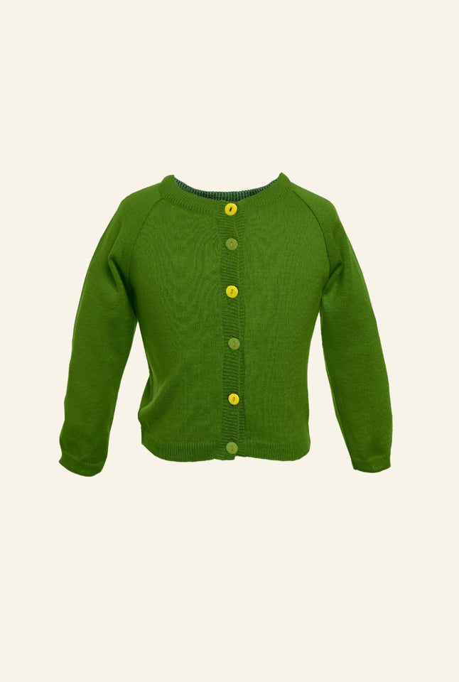 Children's Classic Cardigan - Green